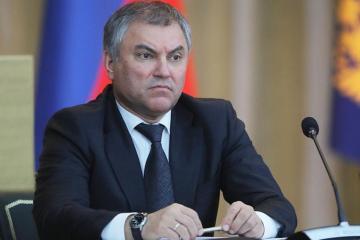 Rusiya Dövlət Dumasının sədri Gürcüstandakı vəziyyəti şərh edib