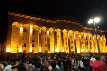 Tbilisidə etirazçılar növbədənkənar parlament seçkilərinin keçirilməsini tələb edib - [color=red]FOTO[/color]