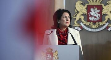 Salome Zurabishvil cuts visit to Belarus, returns to Tbilisi