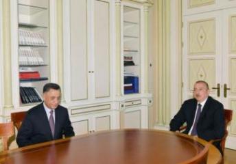 Dövlət başçısı İlham Əliyev Ramil Usubovu qəbul edib