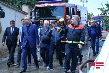 Kemaleddin Heydarov and Eldar Azizov arrived in fire area - [color=red]PHOTO[/color]