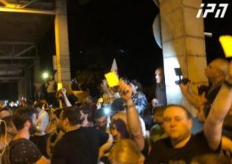 Акция в Тбилиси завершилась шествием к резиденции Иванишвили
