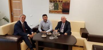Əflatun Amaşov Fuad Abbasovla görüşüb