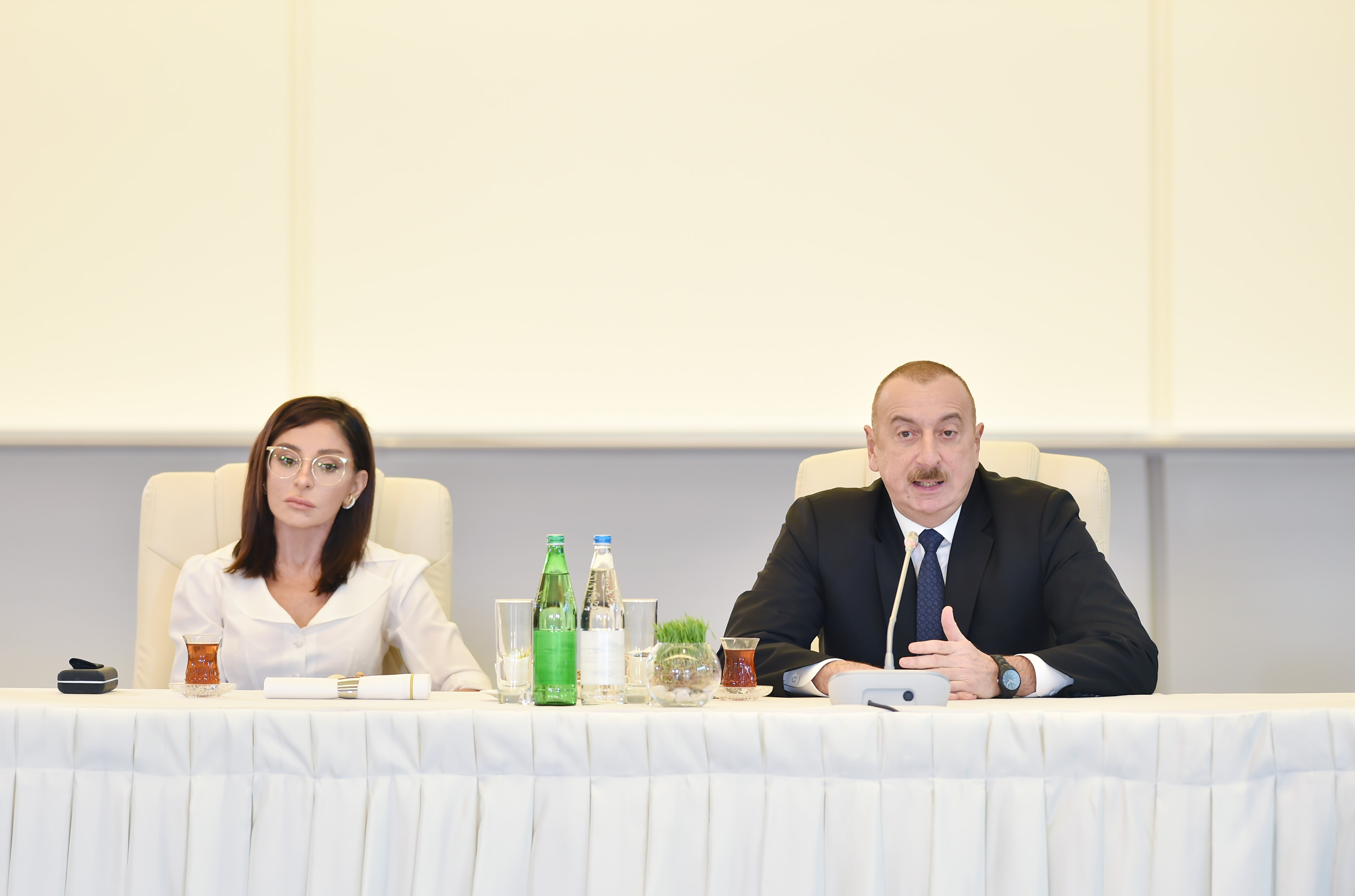 President Ilham Aliyev and first lady Mehriban Aliyeva met with a group of culture and art figures - [color=red]UPDATED[/color] - [color=red]PHOTOSESSION[/color]