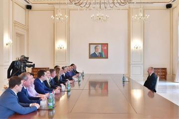 Президент Ильхам Алиев принял делегацию во главе с президентом Российского еврейского конгресса