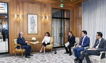 Мехрибан Алиева встретилась с учредителем Французского Национального Института Рака