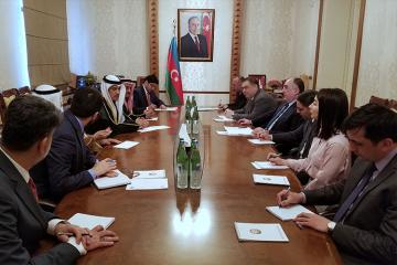 Foreign Minister Elmar Mammadyarov met with the delegation of the National Assembly of Kuwait