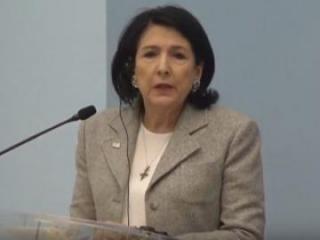 """Salome Zurabişvili: """"Ermənilər və azərbaycanlılar Gürcüstanda sülh içində yaşamalıdır"""""""