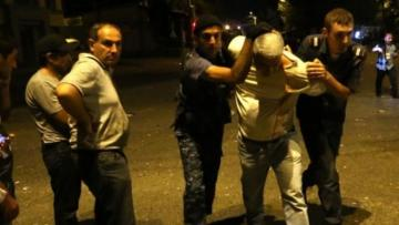 Protesters block main venue of Yerevan, police detains 16