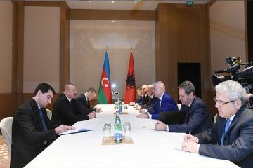 Azərbaycan və Albaniya prezidentləri arasında görüş olub