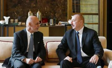 President Ilham Aliyev met with Afghan President Mohammad Ashraf Ghani  - [color=red]UPDATED[/color]