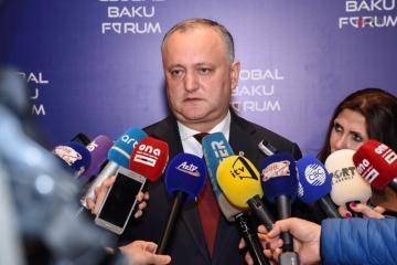 İqor Dodon Azərbaycan prezidentini Moldovaya səfərə dəvət edib