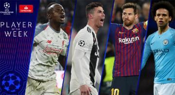 ÇL: Ronaldo və Messi həftənin oyunçusu adına namizədlər sırasında yer alıb