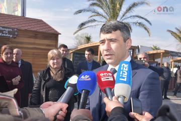İnam Kərimov Ağstafada Novruz yarmarkasında iştirak edib