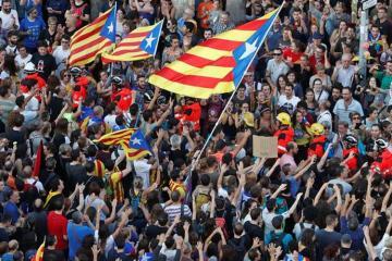 В Мадриде прошла акция сторонников независимости Каталонии