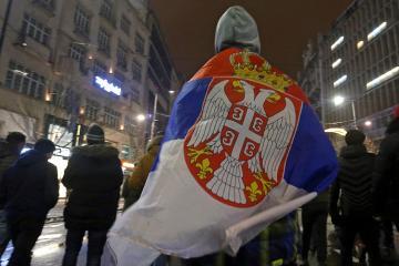 Serbian protesters enter state TV headquarters in Belgrade