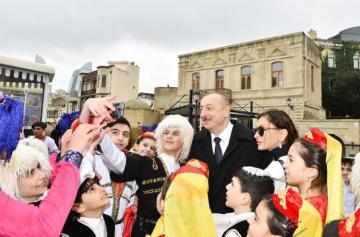 Prezident İlham Əliyev Bakıda Novruz şənliyində iştirak edir - [color=red]YENİLƏNİB-1[/color]
