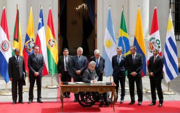 South American presidents announce creation of new regional bloc