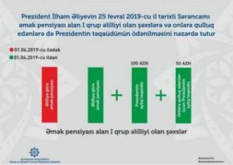 Получающие трудовую пенсию инвалиды I группы будут получать президентскую пенсию