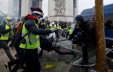 В Париже полиция задержала более 50 участников акций протеста