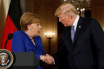 Меркель обсудила с Трампом НАТО, торговые вопросы и Украину