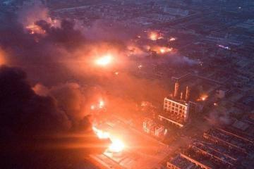 Çində kimya zavodunda partlayış zamanı ölənlərin sayı 64-ə çatıb