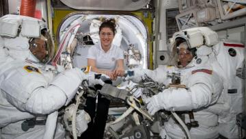NASA cancels all-female spacewalk, citing lack of spacesuit in right size