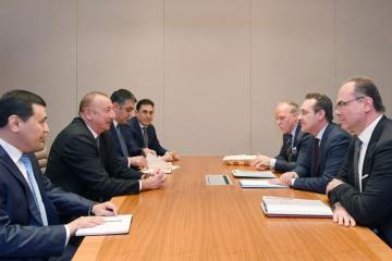Prezident İlham Əliyev Avstriyanın vitse-kansleri ilə görüşüb