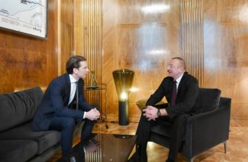 Azerbaijani president met with Austrian Federal Chancellor in Vienna