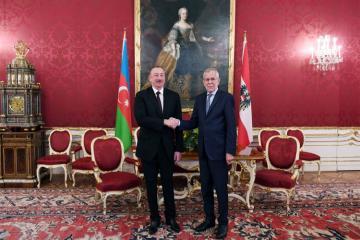 Prezident İlham Əliyevin Avstriyanın Federal Prezidenti Aleksander Van der Bellen ilə görüşü olub