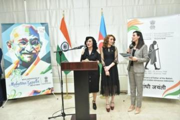 Painting Exhibition dedicated to the 150th Birth Anniversary of Mahatma Gandhi held in Baku