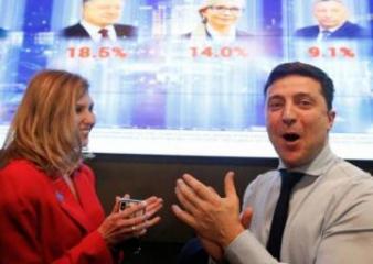 Comedian Zelenskiy takes lead in Ukraine presidential election: exit poll