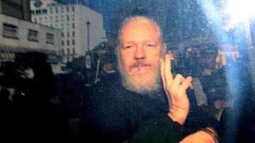 Assange appears in London court for sentencing over breaking bail