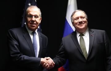 Lavrov və Pompeo arasında görüş başlayıb