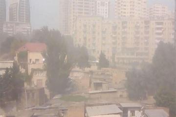 ETSN Bakıda və Abşeron yarımadasında dumanlı hava ilə bağlı məlumat yayıb