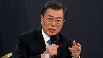 South Korean president warns North Korea missile launches may hamper dialogue
