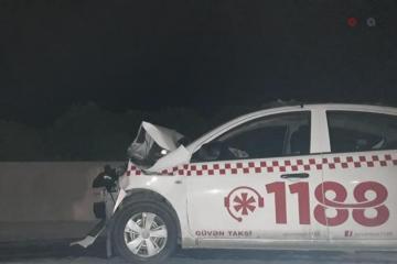Bakı-Sumqayıt şossesində idarəetməni itirən taksi sürücüsü qəza törədib - [color=red]VİDEO[/color]