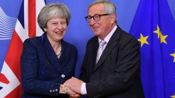 """I'm missing her,"" Juncker says as EU leaders meet without Theresa May"