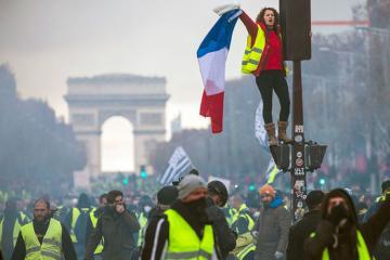 Во Франции начались акции протеста «желтых жилетов»