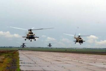 Azerbaijan's military helicopters fly to Turkey to participate in international exercises
