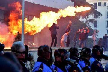 Petrol bombs hurled at Albanian PM's office