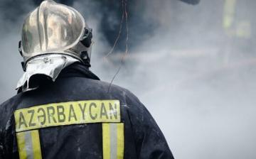 В Ясамале пожар, один человек отравился дымом
