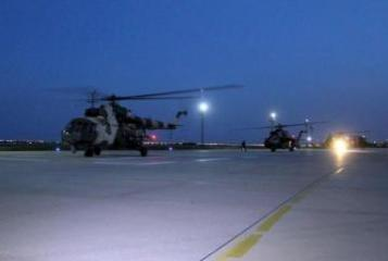 """Azerbaijan's military helicopters arrived in Turkey to participate in  """"Anatolian Phoenix-2019"""" international exercises"""