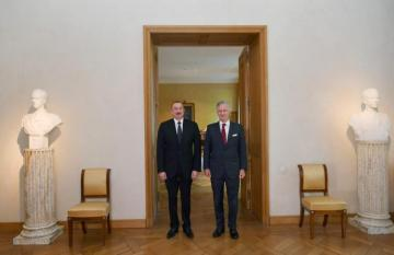President Ilham Aliyev met with King Philippe of Belgium in Brussels