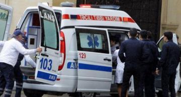 Mingəçevirdə 45 yaşlı qadın yaşadığı binanın girişində ağır xəsarət alıb
