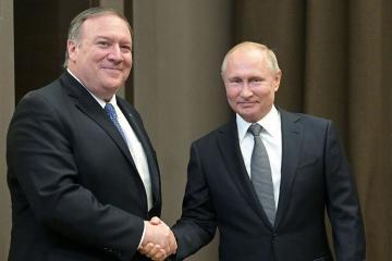 Soçidə Putinlə Pompeonun görüşü başlayıb