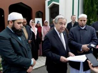 UN chief vows to combat growing hate speech on his visit to New Zealand mosque