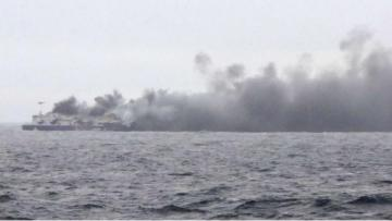 Rescue op underway as Italian-flagged cargo vessel catches fire off Mallorca
