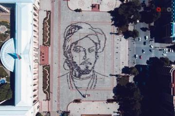 В Гяндже воссоздали живой портрет Имадеддина Насими - [color=red]ФОТОСЕССИЯ[/color]