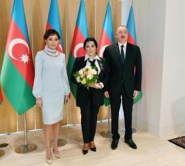 President Ilham Aliyev and first lady Mehriban Aliyeva met with president of Russian Rhythmic Gymnastics Federation